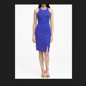 Stretch royal blue sheath dress